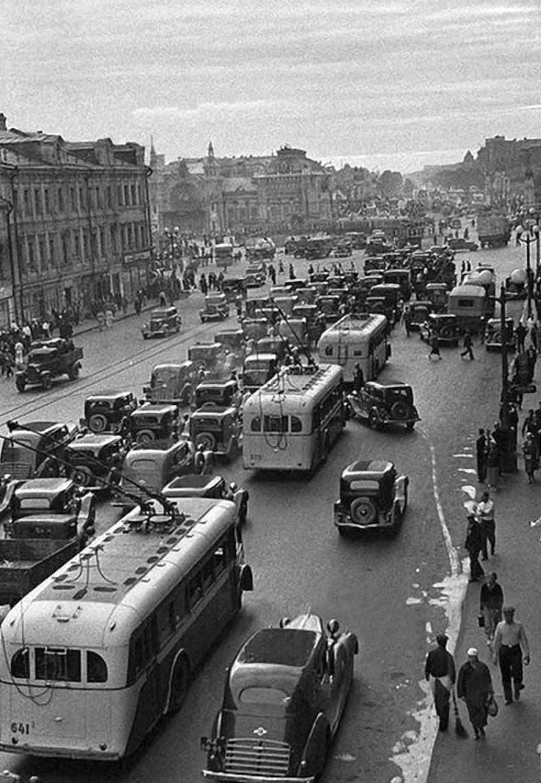 1. Московские пробки было стало, интересно, история, пробки, пробки в москве тогда и сейчас, факты, фото