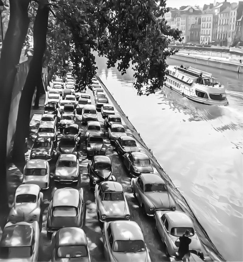 6. Париж, 1954 было стало, интересно, история, пробки, пробки в москве тогда и сейчас, факты, фото