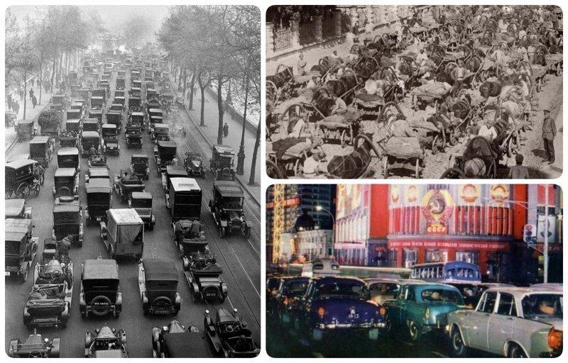 Столетние традиции: пробки от Москвы до Лос-Анджелеса было стало, интересно, история, пробки, пробки в москве тогда и сейчас, факты, фото