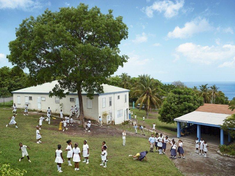 St. Agustine Roman Catholic School, Палм Луп, Монтсеррат дети, игровые площадки, мир, путешествия, страны