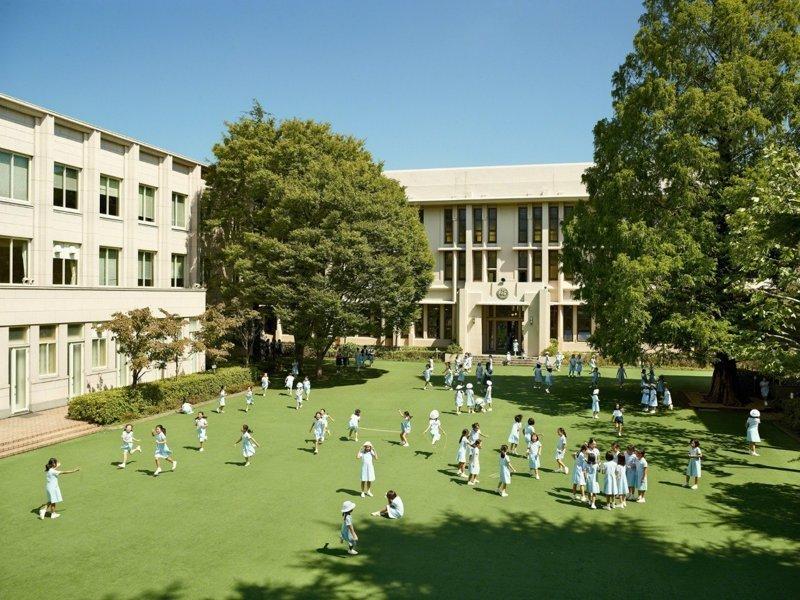 Seishin Joshi Gakuin School, Токио, Япония дети, игровые площадки, мир, путешествия, страны