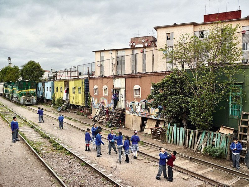 Adolfo López Mateos Primary School, Мехико, Мексика дети, игровые площадки, мир, путешествия, страны
