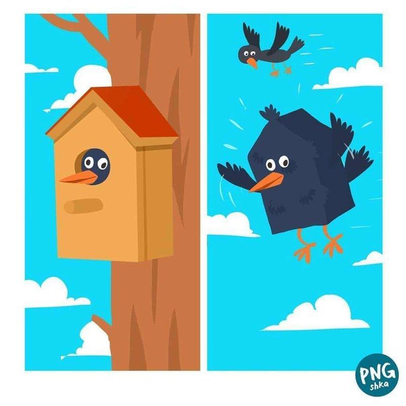 3. Милый дом иллюстратор, комиксы, обыденные вещи, рисунок, юмор