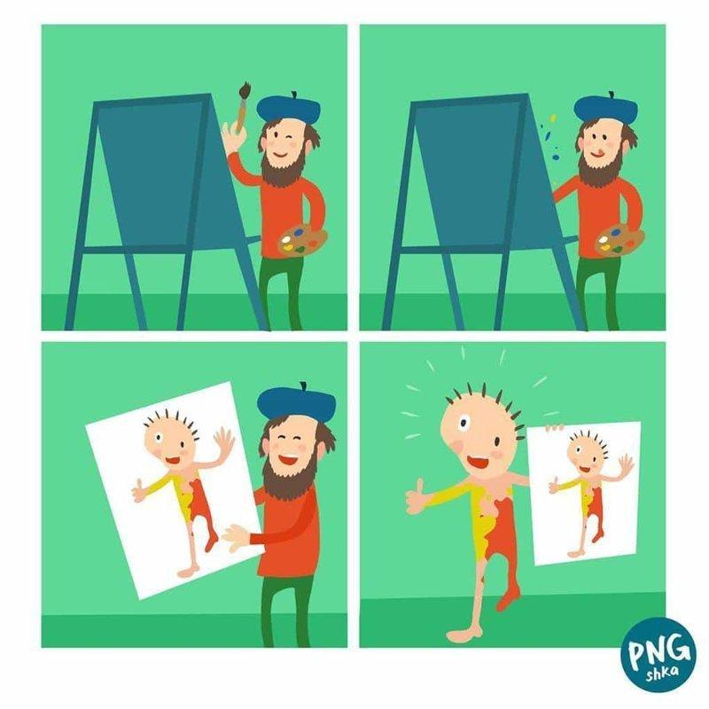 5. Портрет иллюстратор, комиксы, обыденные вещи, рисунок, юмор