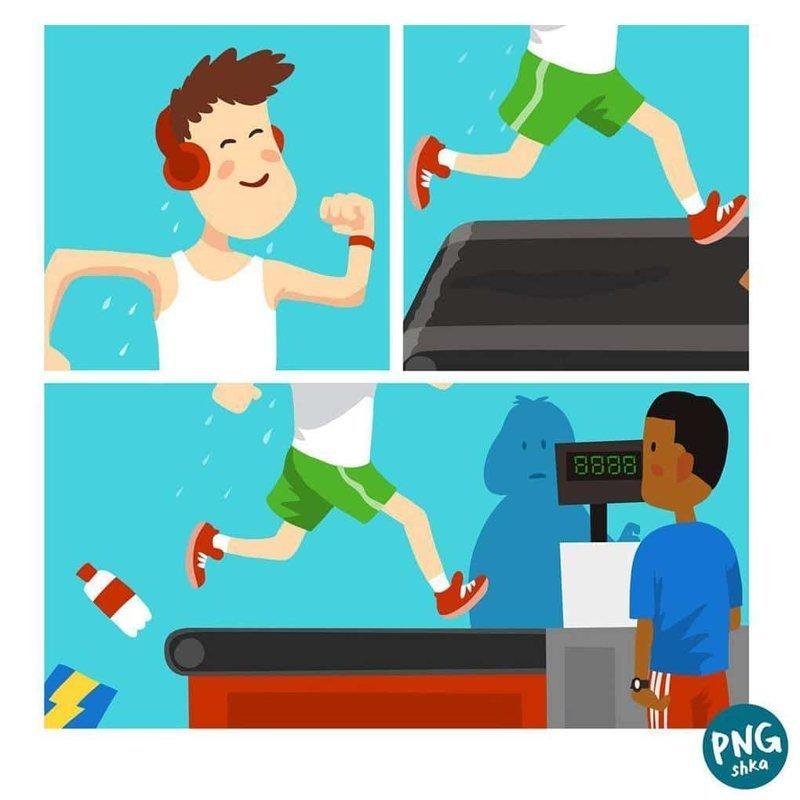 21. Спорт навсегда иллюстратор, комиксы, обыденные вещи, рисунок, юмор