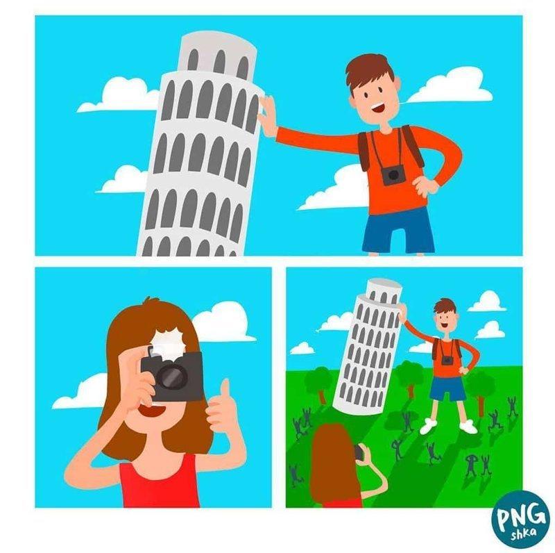 14. Большой туризм иллюстратор, комиксы, обыденные вещи, рисунок, юмор
