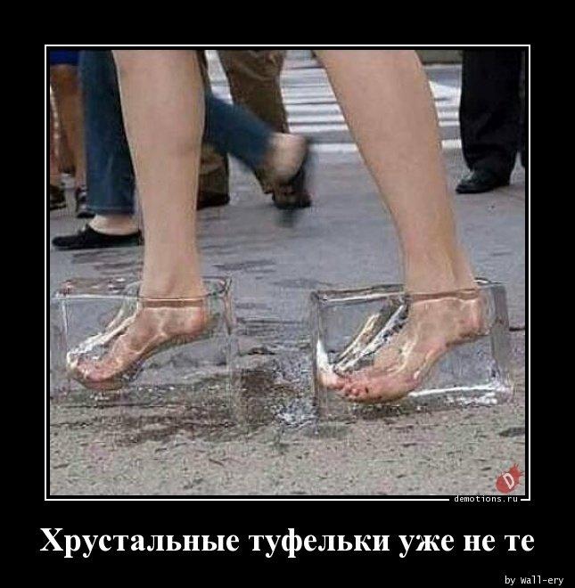 Хрустальные туфельки уже не те демотиватор, демотиваторы, жизненно, картинки, подборка, прикол, смех, юмор