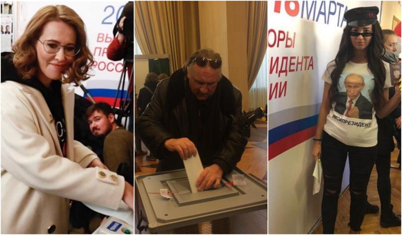 Выборы - для всех! Как знаменитости голосовали 18 марта ynews, ВЫБОРЫ 2018, голосовали, звезды, знаменитости, интересное, фото
