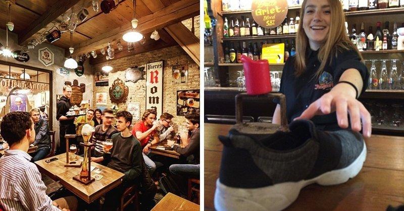 В этом бельгийском баре каждого посетителя просят сдать один ботинок Бельгия, Хитрость, бар, ботинок, в мире, люди, обувь