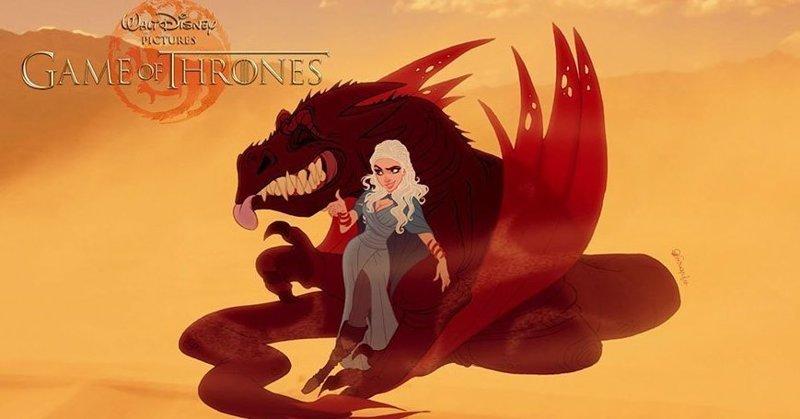 """Дейенерис Таргариен """"Игра престолов"""", disney, герой, иллюстрация, персонаж, сериал, художник"""