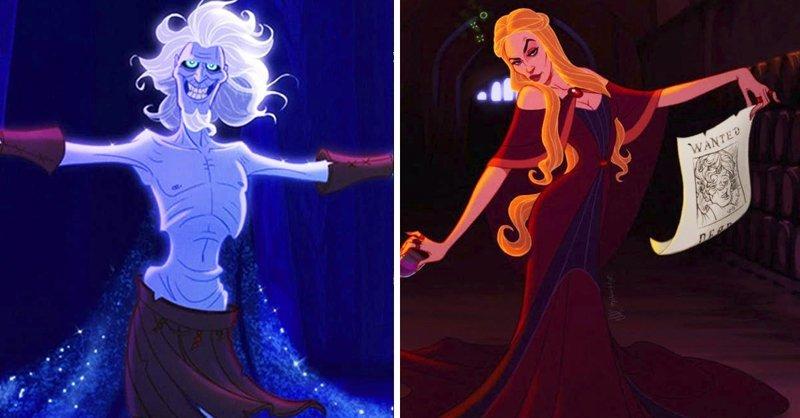 """Как бы выглядели персонажи """"Игры престолов"""", если бы их иллюстрировала студия Disney """"Игра престолов"""", disney, герой, иллюстрация, персонаж, сериал, художник"""