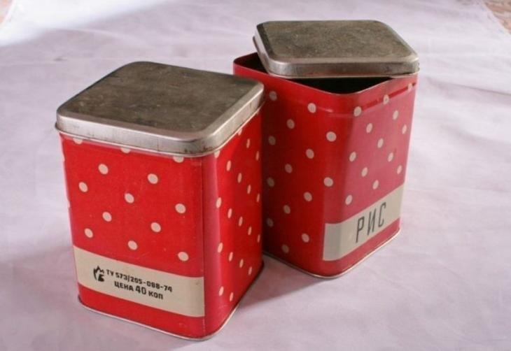 Коробочки для сыпучих продуктов СССР, вещи, настольгия