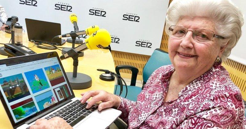 87-летняя бабушка создает картины в Microsoft Paint misrosoft paint, бабушка, компьютер, компьютерная грамотность, необычное увлечение, неожиданно, рисование, удивительное хобби
