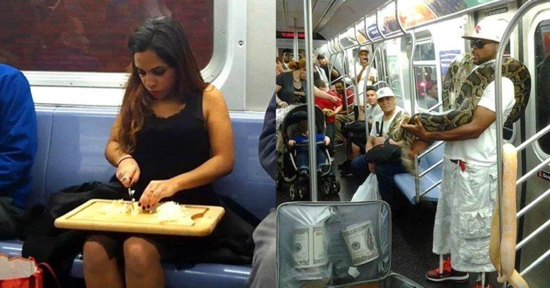 20 «забористых» фото из метро, способных вызвать удивление курьез, метро, странные люди, флеш моб, фрики, юмор