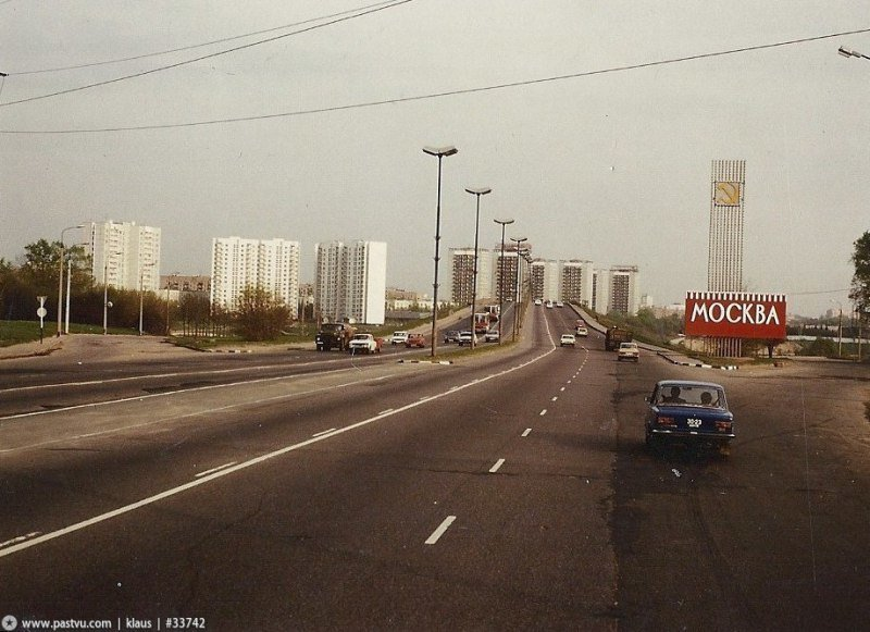 Въезд в Москву. Ленинградка. СССР, ностальгия, улицы Москвы