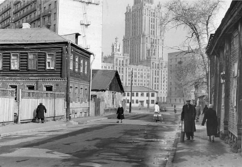 Несуществуюший ныне 2ой Луговой переулок 1960 СССР, ностальгия, улицы Москвы