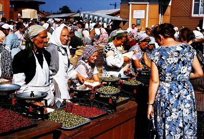 Даниловский колхозный рынок, Москва, 1959 год СССР, ностальгия, улицы Москвы