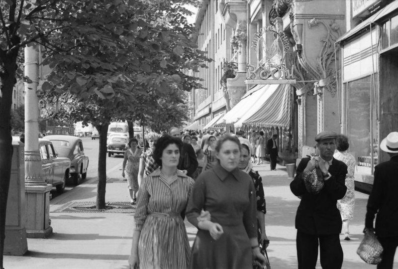Улица Горького. 1960г. СССР, ностальгия, улицы Москвы