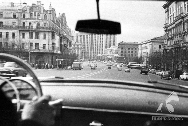За рулем. Проспект Маркса, Москва, 1965 год СССР, ностальгия, улицы Москвы