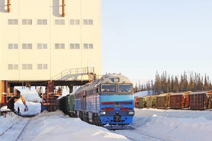 Северо-Западная фосфорная компания ввела в эксплуатацию железнодорожную ветку до ГОКа «Олений ручей» Хорошие, добрые, новости, россия, фоторепортаж