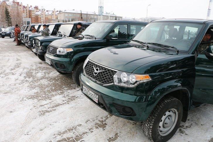 31 автомобиль передан службе охраны лесов Омской области Хорошие, добрые, новости, россия, фоторепортаж