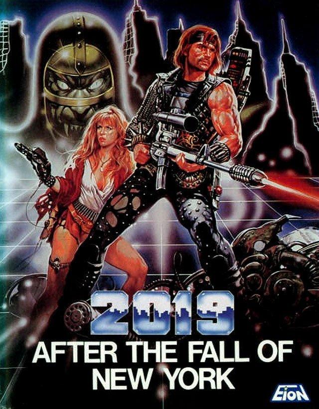 2019 год за стеной Нью-Йорка VHS, боевик, век, обложки, прошлый, факт, фильм