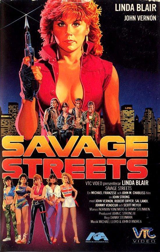 Дикие улицы VHS, боевик, век, обложки, прошлый, факт, фильм