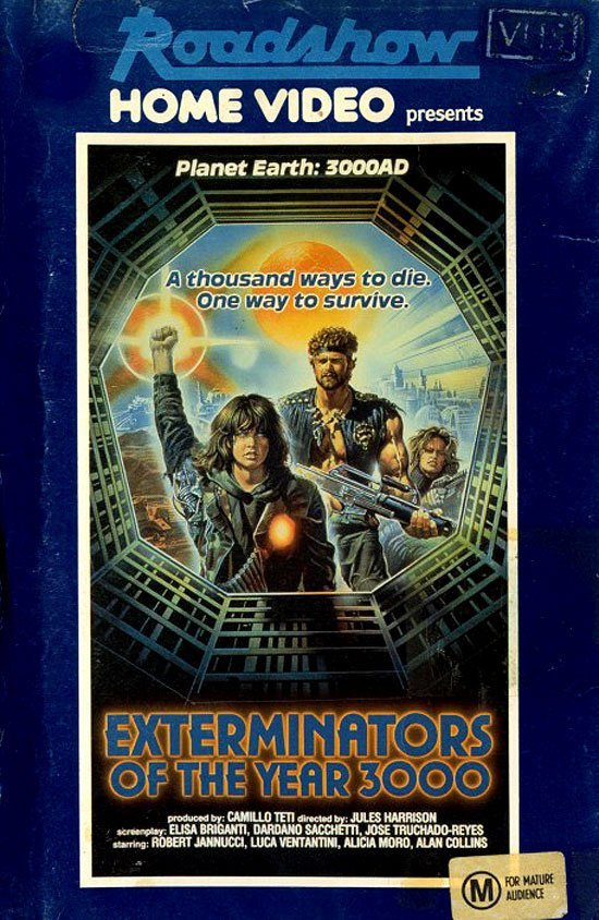 Истребители 3000 года  VHS, боевик, век, обложки, прошлый, факт, фильм
