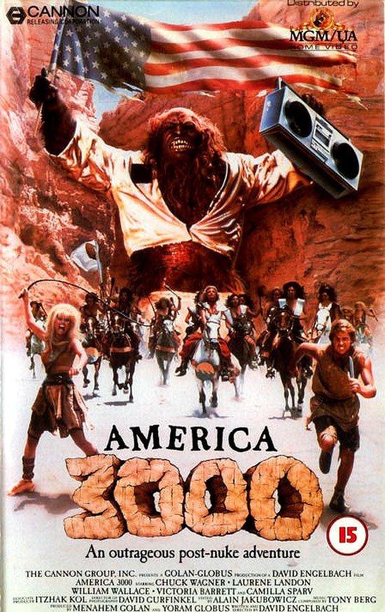 Америка 3000  VHS, боевик, век, обложки, прошлый, факт, фильм