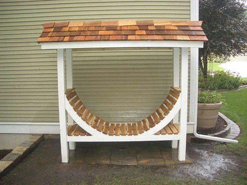 Хранение под открытым небом DIY или Сделай сам, дровница, самоделки для дома, своими руками, строительство