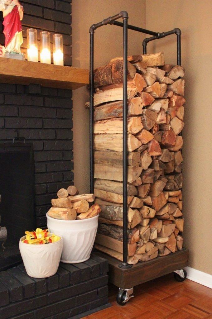 Держатель для дров из сантехнических труб DIY или Сделай сам, дровница, самоделки для дома, своими руками, строительство