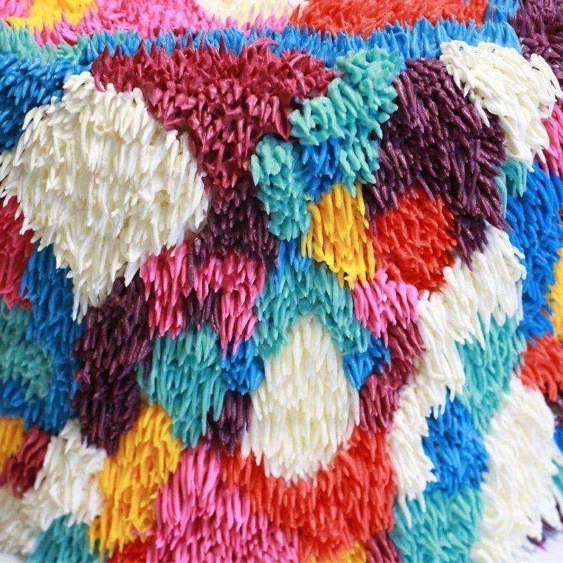Эти торты странно похожи на ворсистые ковры дизайн, еда, ковер, креатив, пища, торт, фантазия