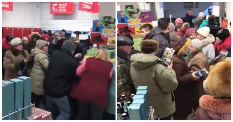 Краснодарские покупатели «Магнита» устроили давку из-за игрушек по акции акция, видео, игрушка, краснодар, магнит, покупатели, покупатель, россия