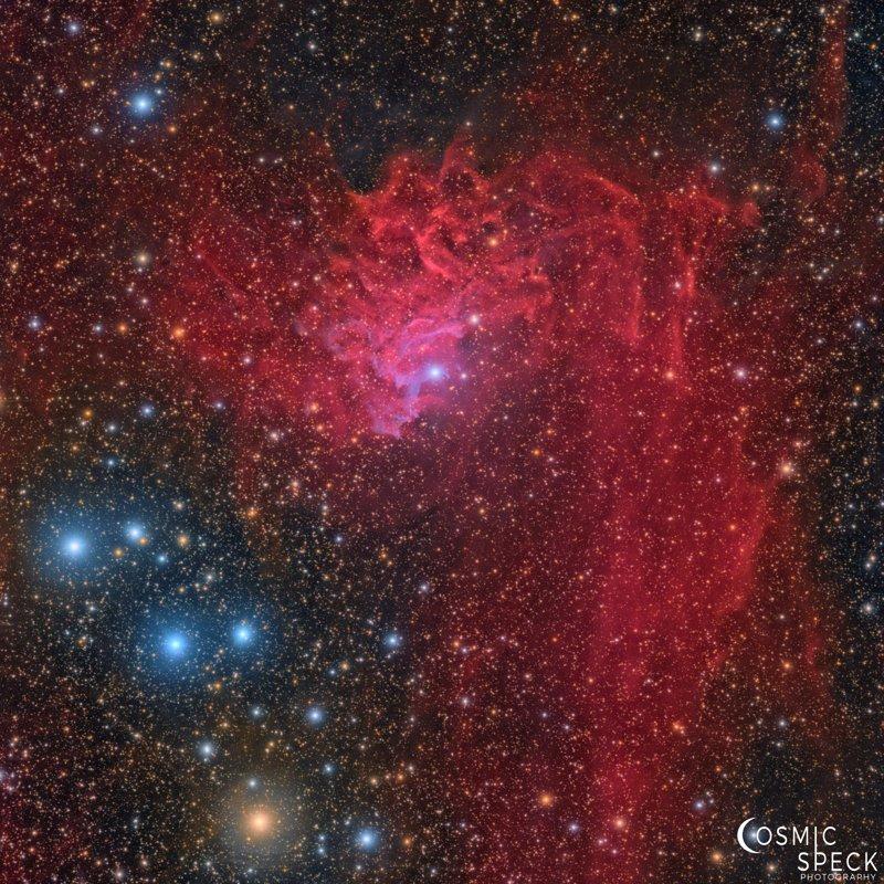 Парень 2 месяца фотографировал звёздное небо, получив в итоге невероятно красивый результат звезды, красота, наука, небо, туманность