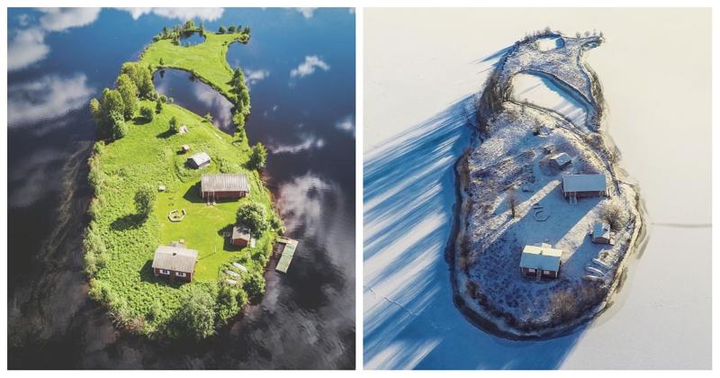 Времена года на острове Котисаари Котисаари, время года, мир, остров, природа, финляндия, фотография