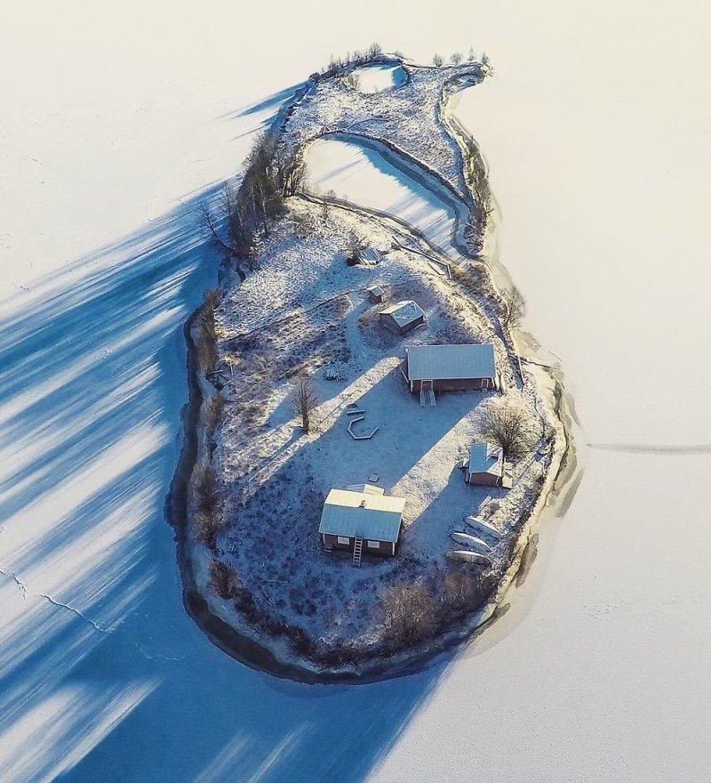Зима  Котисаари, время года, мир, остров, природа, финляндия, фотография