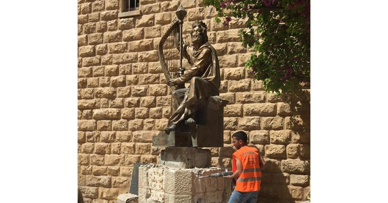 Иерусалим решил убрать подарок России – памятник Царю Давиду ynews, демонтаж, иерусалим, новости, памятник, подарок