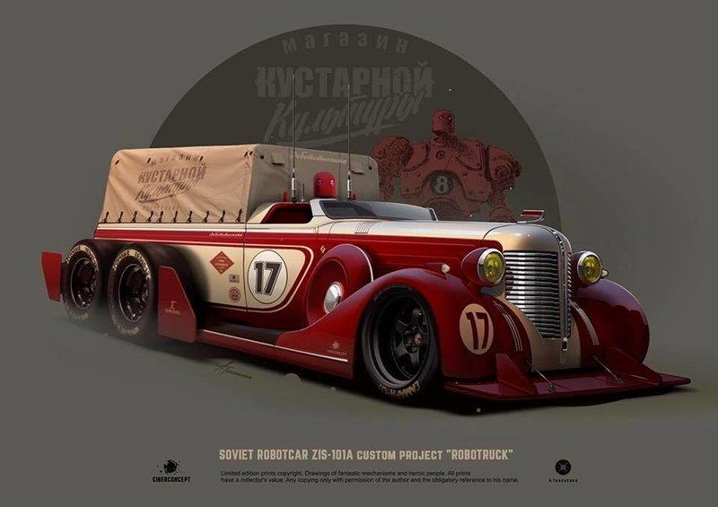 Наиболее полная коллекция постеров советских ретро-автомобилей от художника Андрея Ткаченко Андрей Ткаченко, СССР, автомобили, советские авто, хот-род