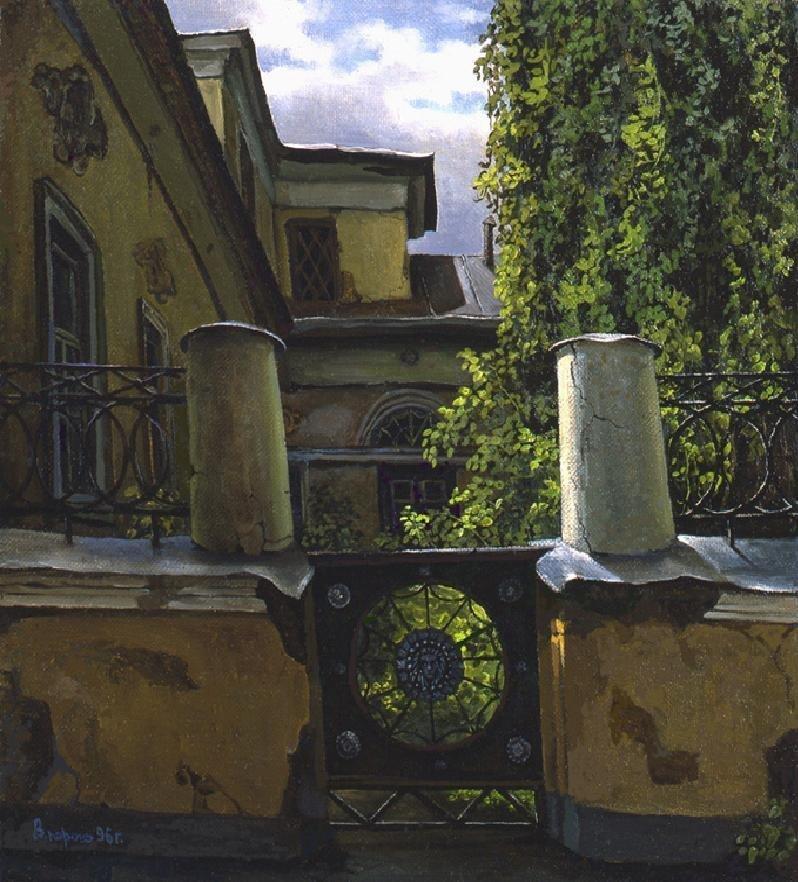 Особняк в Мансуровском переулке владимир парошин, дворики, дворы детства, детство, искусство, картины