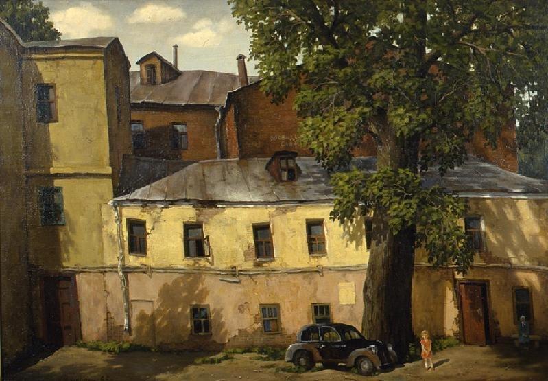 Дома в Крапивенском переулке владимир парошин, дворики, дворы детства, детство, искусство, картины