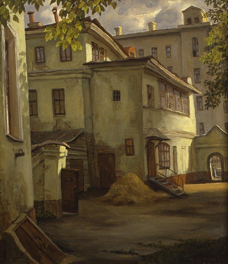 Двор на Большой Полянке владимир парошин, дворики, дворы детства, детство, искусство, картины