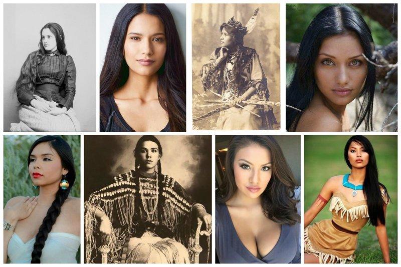 Перемешаем прошлое и настоящее и увидим, что их красота со временем еще больше расцвела. Неправда ли? женщины, индейцы, красота, племена, прерии