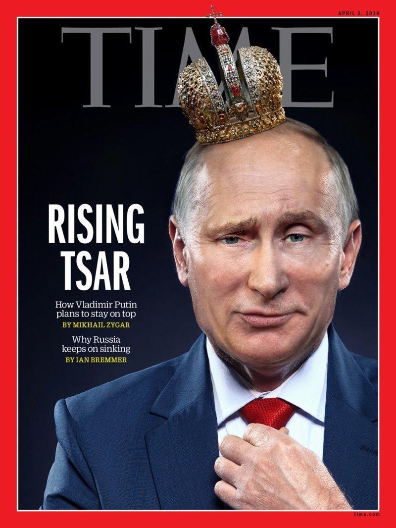 «Восходящий царь». На новую обложку Time поставят Путина в короне time, ynews, газета, корона, пресса, путин, фото