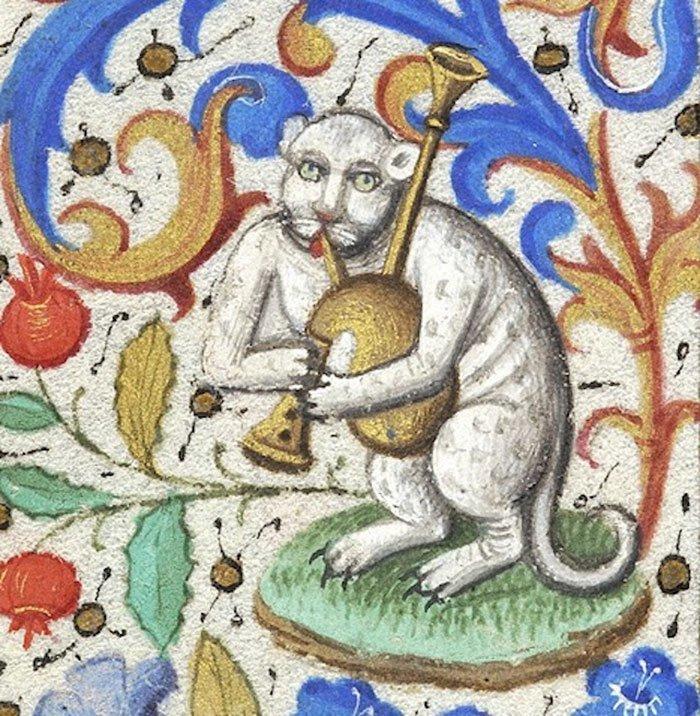 Кошка с галлюциногенных лугов Шотландии искусство, картина, кот, кошка, портрет, смех, средневековье, уродство