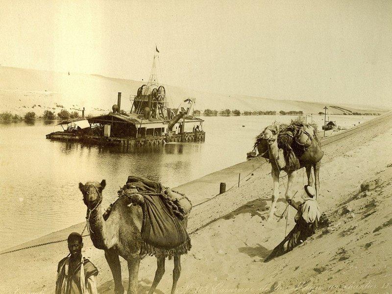 8. Караван и дноуглубительная баржа братья Зангаки, египет, интересно, история, фото