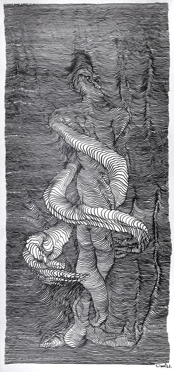 Талант и черно-белые рисунки от которых кружится голова искусство. штрихи, красота, удивительное, черно-белые рисунки