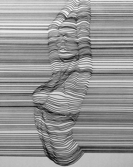 Чувственные линии искусство. штрихи, красота, удивительное, черно-белые рисунки