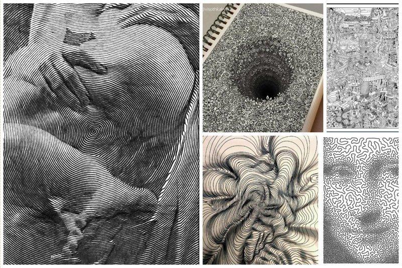 По-моему тут слова излишни искусство. штрихи, красота, удивительное, черно-белые рисунки
