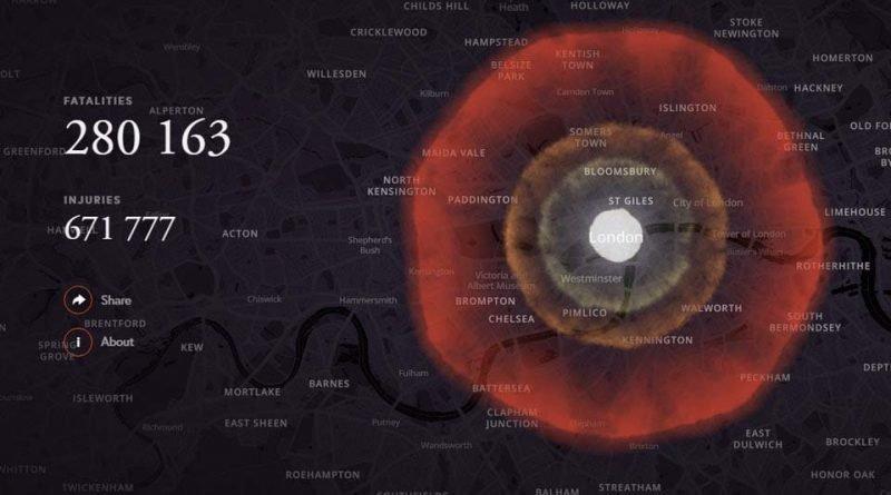 В Сети появился симулятор ядерной бомбардировки бомба, в мире, симулятор, ядерная бомбардировка