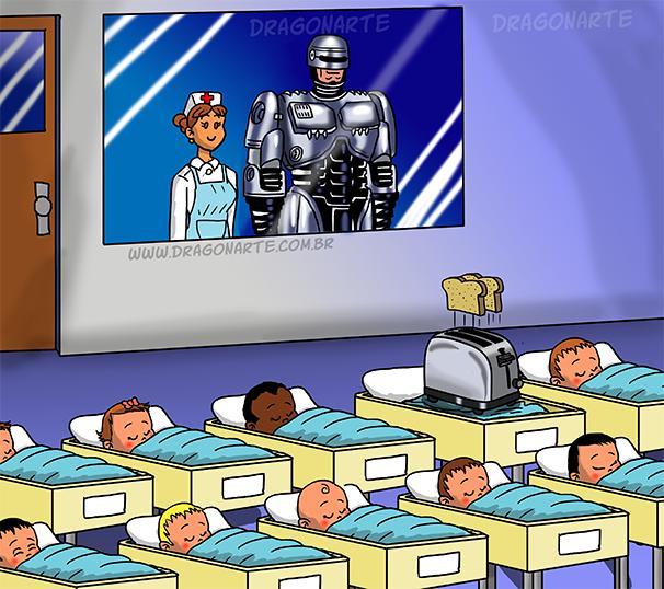 4. Робо-малыш дети, иллюстрация, комиксы, персонаж, ребенок, супергерой, художник